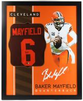 Baker Mayfield Signed 35x43 Custom Framed Jersey (Beckett Hologram) at PristineAuction.com