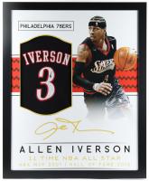 Allen Iverson Signed 35x43 Custom Framed Jersey (JSA Hologram) at PristineAuction.com