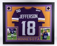 Justin Jefferson Signed 35x43 Custom Framed Jersey (Beckett COA) (See Description) at PristineAuction.com