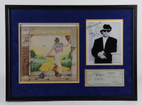 Elton John & Bernie Taupin Signed 21.5x29.5 Custom Framed Display with Hand-Signed Photo & Hand-Signed Check (JSA COA) (See Description) at PristineAuction.com