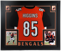 Tee Higgins Signed 35x43 Custom Framed Jersey (Beckett Hologram) at PristineAuction.com