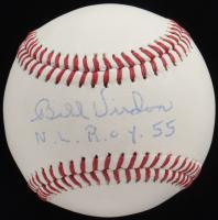 "Bill Virdon Signed OL Baseball Inscribed ""N.L. R.O.Y. 55"" (JSA COA) at PristineAuction.com"