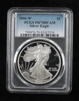 2006-W American Silver Eagle $1 One Dollar Coin (PCGS PR70 DCAM) at PristineAuction.com