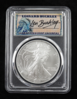 2007 American Silver Eagle $1 One Dollar Coin - Len Buckley Signed Label (PCGS MS70) at PristineAuction.com
