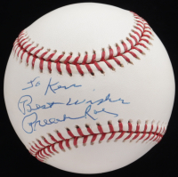"""Preacher Roe Signed ONL Baseball With Personalization & Inscribed """"Best Wishes (JSA COA) at PristineAuction.com"""