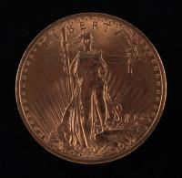 1908 $20 Twenty-Dollar Saint-Gaudens Double Eagle Gold Coin No Motto at PristineAuction.com