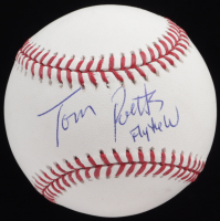 """Tom Ricketts Signed OML Baseball Inscribed """"Fly The W"""" (PSA COA) at PristineAuction.com"""
