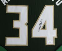 Giannis Antetokounmpo Signed 35x43 Custom Framed Jersey (JSA Hologram) at PristineAuction.com