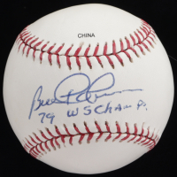 "Bill Robinson Signed OML Baseball Inscribed ""79 WS Champ"" (JSA COA) at PristineAuction.com"