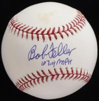 "Bob Feller Signed OML Baseball Inscribed ""107.9 MPH"" (JSA COA) at PristineAuction.com"