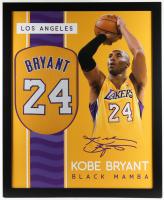Kobe Bryant 35x43 Custom Framed Jersey (See Description) at PristineAuction.com