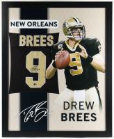 Drew Brees Signed 35x43 Custom Framed Jersey (Beckett Hologram) at PristineAuction.com