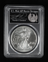 2018 American Silver Eagle $1 One Dollar Coin - First Strike, Thomas S. Cleveland Signed Label (PCGS MS70) at PristineAuction.com