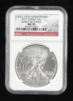 2011 American Silver Eagle $1 One Dollar Coin - Early Releases (NGC MS70) at PristineAuction.com