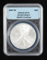 2007-W American Silver Eagle $1 One Dollar Coin - Burnished (ANACS MS70) at PristineAuction.com