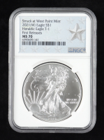 2021-(W) American Silver Eagle $1 One Dollar Coin - Struck at San Francisco Mint, T1 Emergency Issue, First Releases (NGC MS70) at PristineAuction.com