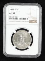 1943 Walking Liberty Silver Half Dollar (NGC AU58) at PristineAuction.com