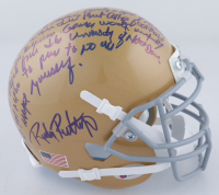 "Rudy Ruettiger Signed Notre Dame Fighting Irish Mini-Helmet Inscribed with ""Rudy's Story"" (Beckett COA & Ruettiger Hologram) at PristineAuction.com"