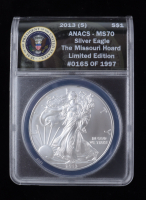 2013-(S) American Silver Eagle $1 One Dollar Coin - Struck at San Francisco Mint (ANACS MS70) at PristineAuction.com