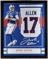 Josh Allen Signed 35x43 Custom Framed Jersey (Beckett Hologram) (See Description) at PristineAuction.com