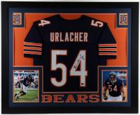 "Brian Urlacher Signed 35x43 Custom Framed Jersey Display Inscribed ""HOF 18"" (Beckett COA) at PristineAuction.com"