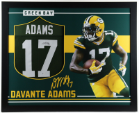 Davante Adams Signed 35x43 Custom Framed Jersey (Beckett COA) (See Description) at PristineAuction.com