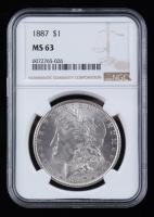 1887 Morgan Silver Dollar (NGC MS63) at PristineAuction.com