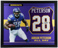 Adrian Peterson Signed 35x43 Custom Framed Jersey (Beckett COA) (See Description) at PristineAuction.com