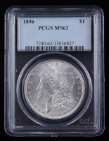 1896 Morgan Silver Dollar (PCGS MS63) at PristineAuction.com