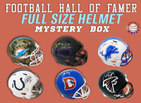 Schwartz Sports Football Hall of Famer Signed Full-Size Helmet Mystery Box Series 12 (Limited to 100) (ALL HELMETS ARE SIGNED BY HALL OF FAMERS!!!) at PristineAuction.com