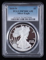 2010-W American Silver Eagle $1 One Dollar Coin - First Strike (PCGS PR70 DCAM) at PristineAuction.com
