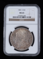 1881-S Morgan Silver Dollar (NGC MS65) (Toned) at PristineAuction.com