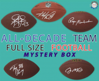Schwartz Sports All-Decade Team Full-Size Football Signed Mystery Box - Series 1 (Limited to 100) (ALL Players Are Either 1st or 2nd All Decade Team Members) at PristineAuction.com