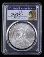 2013-(S) American Silver Eagle $1 One Dollar Coin - Struck at San Francisco Mint Thomas S. Cleveland Signed Label (PCGS MS70) at PristineAuction.com
