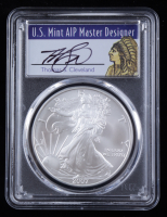 2007 American Silver Eagle $1 One Dollar Coin - Thomas S. Cleveland Signed Label (PCGS MS70) at PristineAuction.com