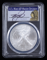 2010 American Silver Eagle $1 One Dollar Coin - Thomas S. Cleveland Signed Label (PCGS MS70) at PristineAuction.com