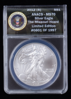 2012-(S) American Silver Eagle $1 One Dollar Coin - Struck at San Francisco Mint (ANACS MS70) at PristineAuction.com