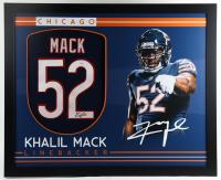 Khalil Mack Signed 35x43 Custom Framed Jersey (JSA Hologram) (See Description) at PristineAuction.com