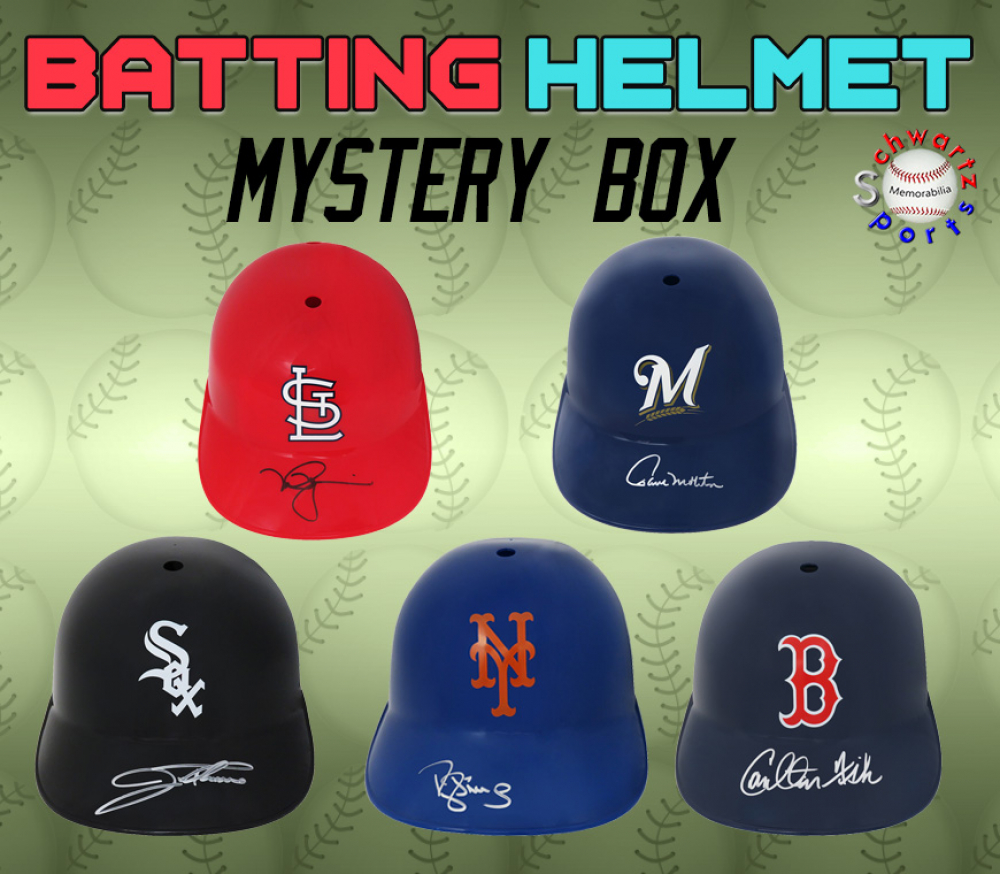 Schwartz Sports Baseball Batting Helmet Signed Mystery Box – Series 5 (Limited to 75) at PristineAuction.com