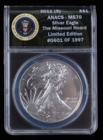 2011-(S) American Silver Eagle $1 One Dollar Coin - Struck at San Francisco Mint (ANACS MS70) at PristineAuction.com