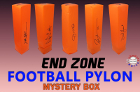 Schwartz Sports Football Endzone Pylon Signed Mystery Box - Series 7 (Limited to 150) at PristineAuction.com