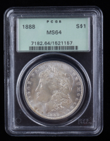 1888 Morgan Silver Dollar (PCGS MS64) OGH at PristineAuction.com