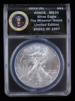 2014-(S) LE American Silver Eagle $1 One Dollar Coin - Struck at San Francisco Mint (ANACS MS70) at PristineAuction.com