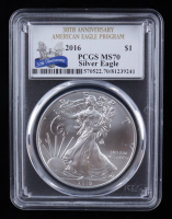 2016 American Silver Eagle $1 One Dollar Coin - 30th Anniversary (PCGS MS70) at PristineAuction.com