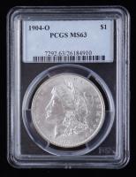 1904-O Morgan Silver Dollar (PCGS MS63) at PristineAuction.com