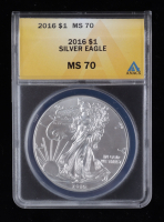 2016 American Silver Eagle $1 One Dollar Coin (ANACS MS70) at PristineAuction.com