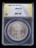 1881-S Morgan Silver Dollar (ANACS MS65) at PristineAuction.com