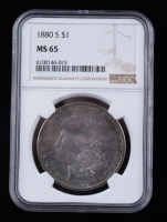 1880-S Morgan Silver Dollar (NGC MS65) (Toned) at PristineAuction.com