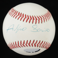 Alfonso Soriano Signed OIL Baseball (PSA COA & Just the Proof Hologram) at PristineAuction.com