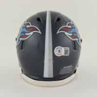 Caleb Farley Signed Titans Speed Mini Helmet (Beckett Hologram) at PristineAuction.com